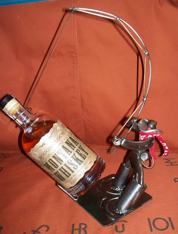Cowboy Horseshoe Wine Bottle Holder Golfclub