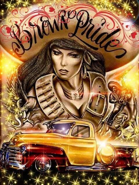 142 best chicano latino lowrider art images on pinterest - Brown pride lowrider ...