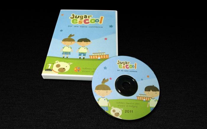 Jugar Escool - Diseño de CD del juego.