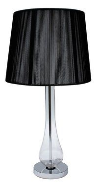 Striking Glass Bulb Black table lamp - Lifestyle Home and Living