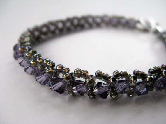 Tennis Bracelet  Light Purple Crystal   Spring by BeadedTail, $24.00