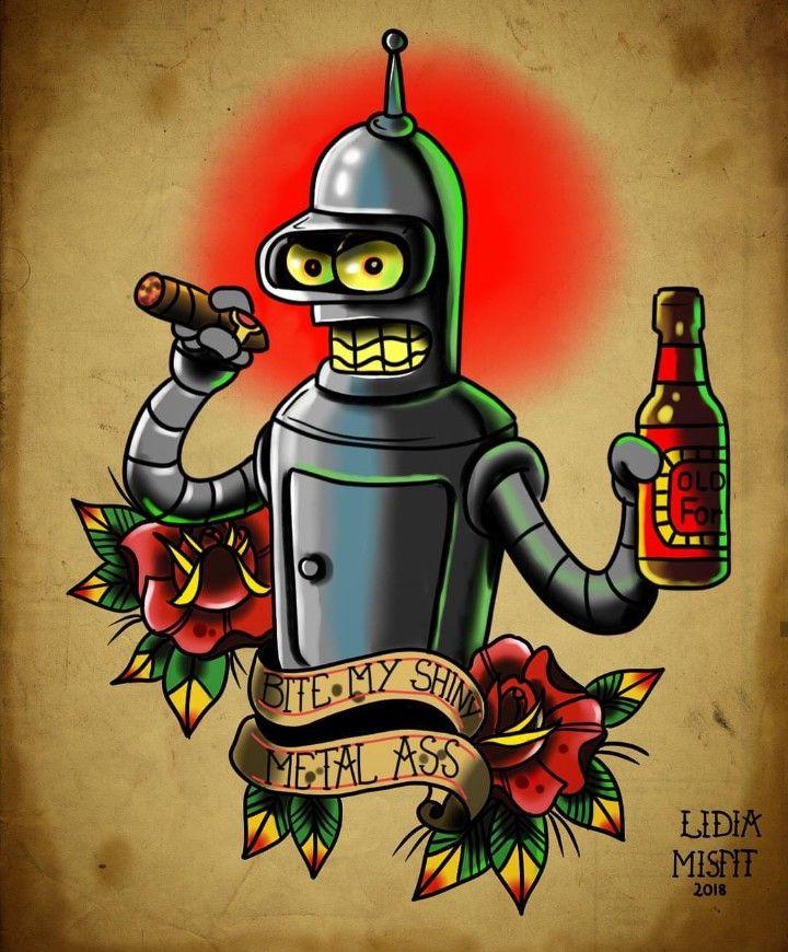 Bender Bite My Shiny Metal Ass Futurama Bender Futurama