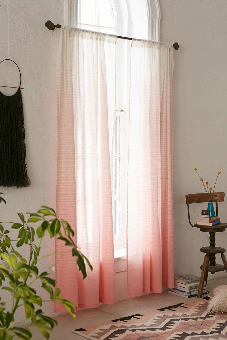 Peach curtains drapes - Assembly Home Diamond Fade Curtain Urban Outfitters