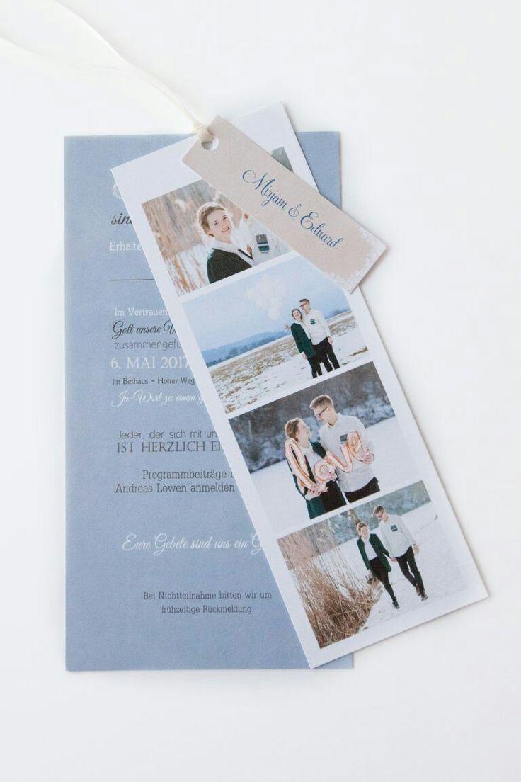 Dankeskarte Hochzeit Floral Banner