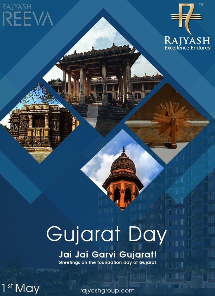 Greetings on the foundation day of Gujarat! #GujaratDay #GujaratFoundationDay #Gujarat #RajYashGroup #RajYash #SouthVasna #RealEstate