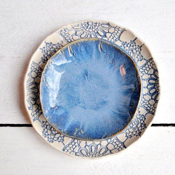 anidación cerámica cuencos modernos tazones de por OneClayBead