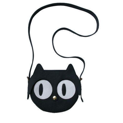 Gatto in pelle borsa a tracolla borsa animalier Cat di LaLisette