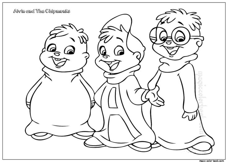 28 best Alvin and Chipmunks Coloring