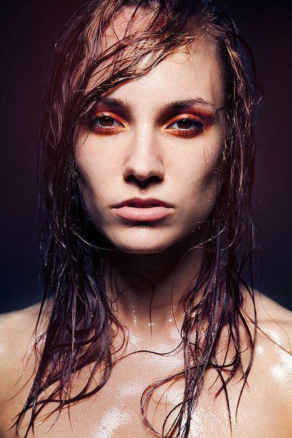 Wetlook hair and make up