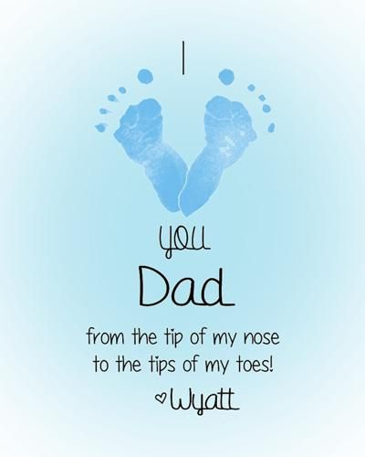 Personalized Baby Footprint Art