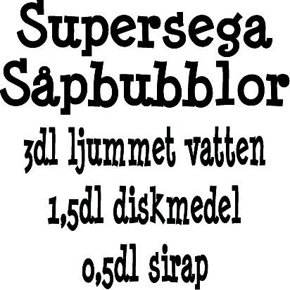 Vägg/Kakeldekor Supersega Såpbubblor Strl 145x145mm