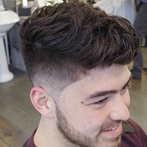 Taper Fade with Textured Wavy Hair