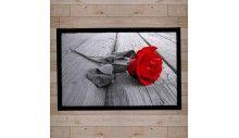 paillasson décor flower rose rouge