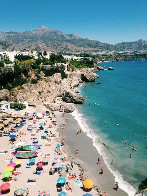 Malaga Spain Beaches | Calahonda beach, Nerja, Malaga | Spain