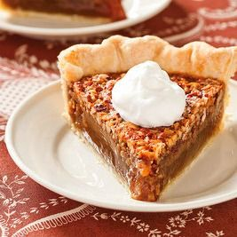 This is fantastic: a pecan pie made without corn syrup. We're not calling it healthy, but it certainly is more true to the all-America dessert's roots.