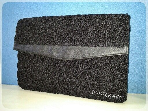 My handmade crochet clutch. Indonesia nilon yarn