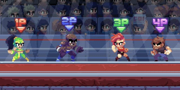 Double Turn | Pro-wrestling party brawling game