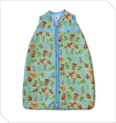 Robots Baby sleeping bag in size 0-6 months R350. Cotton outer with cosy inner batting.