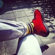 Clarks | Desert Boots | Red | Socks