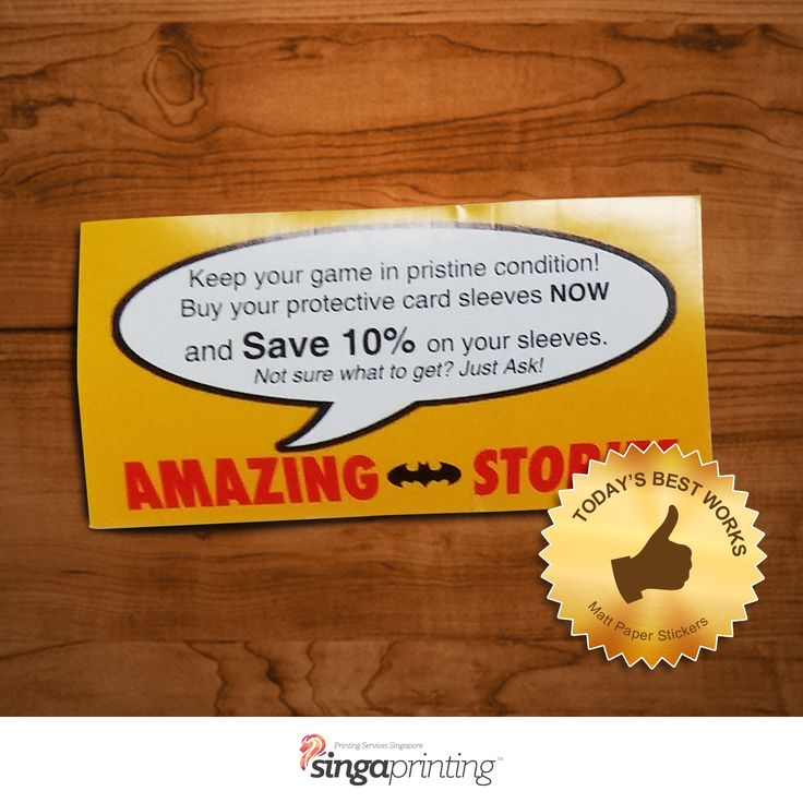 Writable #Matte #Sticker! Take this from us for as low as $71 ONLY!