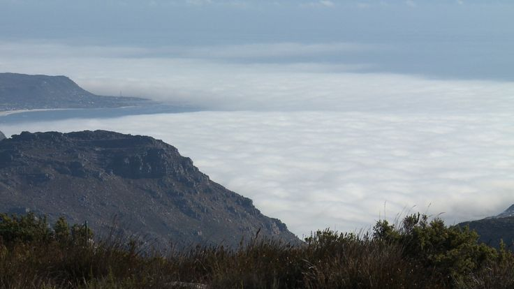 View from Table Mountain looking across a blanket of cloud. #tablemountain #mountain #travel #capetown #southafrica #africa