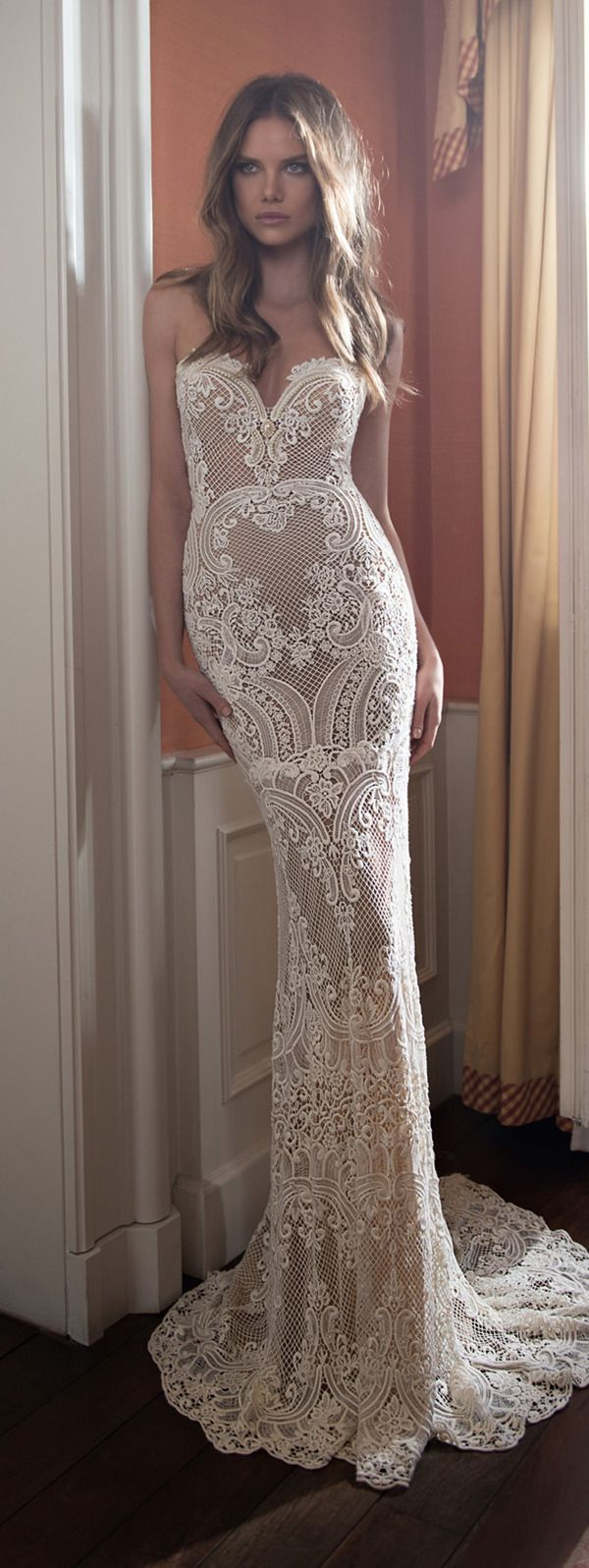 OBSESSED WITH THIS!!! berta bridal vintage mermaid lace wedding dresses for fall 2015