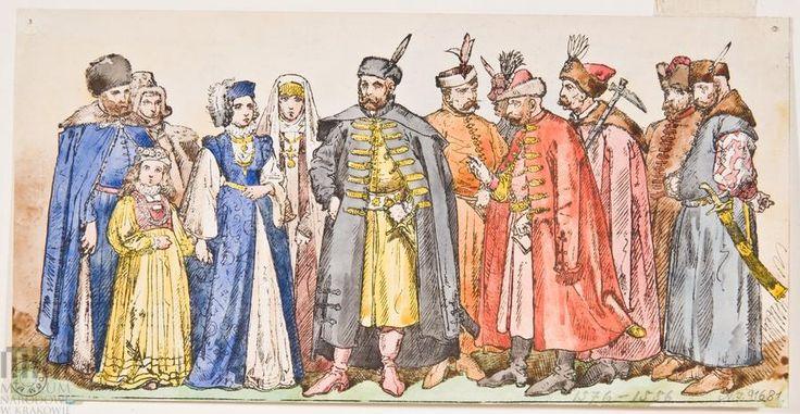 """""""Ubiory w Polsce 1200-1795"""" - karta bez tytułu, 1576 - 1586"""
