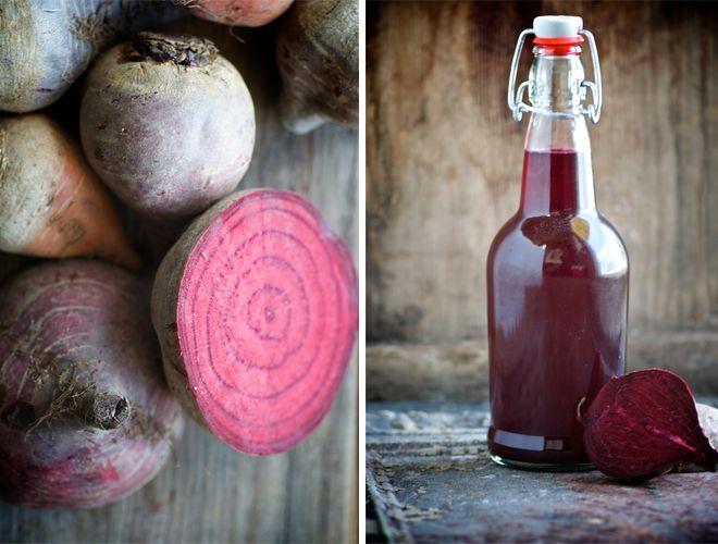 Probiotic beetkvass drink.  Deeply cleansing tonic.
