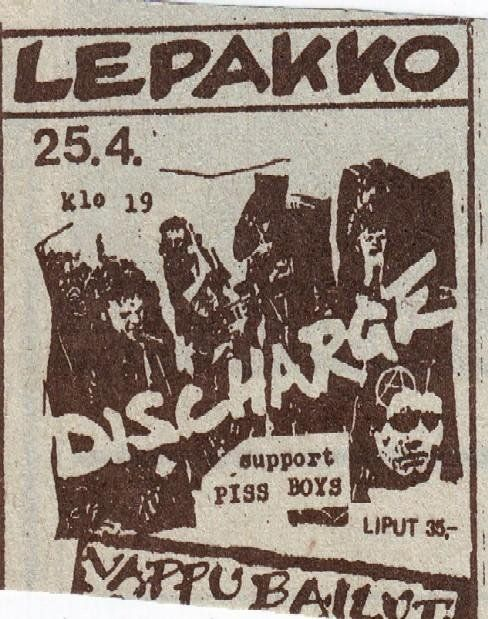 Discharge - live in Finland 1983