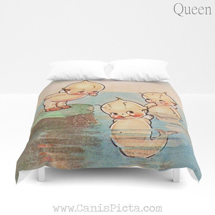 Excited To Share This Item From Canispicta My Etsy Shop Duvet Cover Vintage Mermaid Twin Xl Full Queen King Mermaid Comforter Duvet Covers Twin Xl Comforter