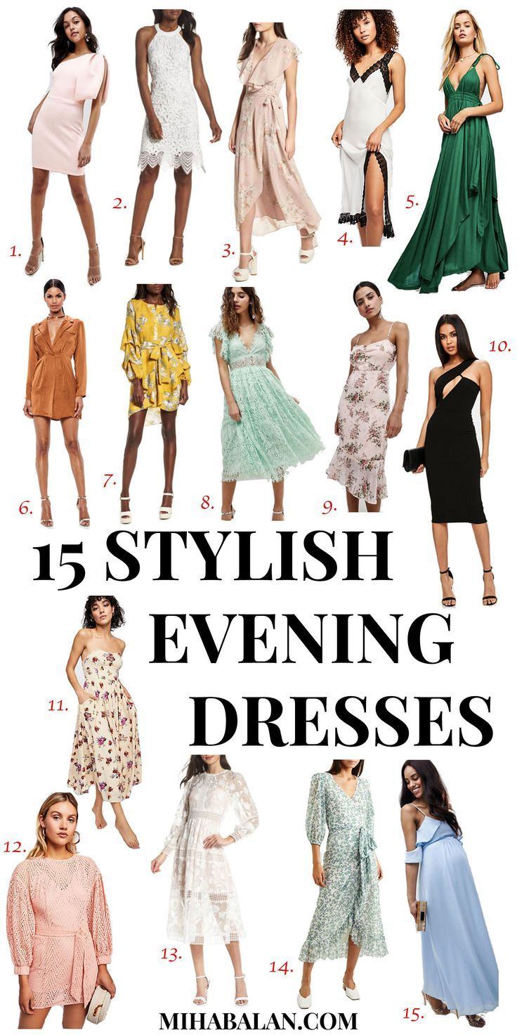 15 Stylish Evening Summer Dresses Be You Very Well Summer Dresses Fashion Cool Summer Outfits [ 1472 x 736 Pixel ]