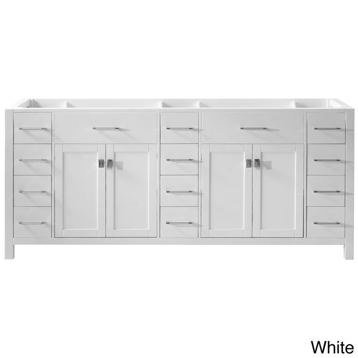 The Art Gallery Caroline Parkway inch Double Sink Bathroom Vanity Cabinet Overstock Shopping