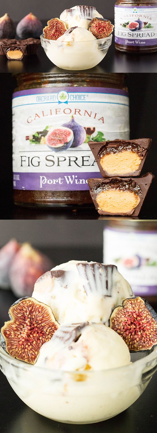 Homemade Mascarpone Ice Cream with Almond Butter & Fig Jam Cups - Ice Cream Recipes