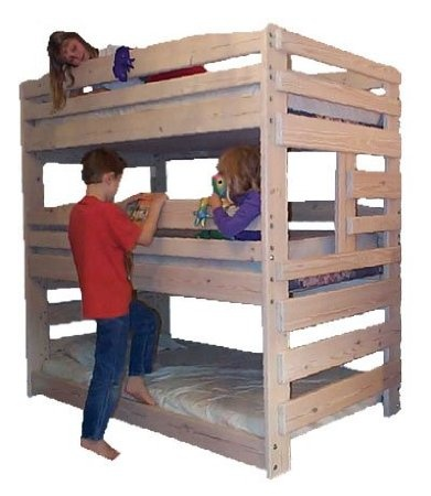 Amazon Com Triple Bunk Bed Woodworking Plan That Sleeps Three Home