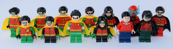 ALL THE ROBIN !!!! References left to right : -7783 : The Batcave : The Penguin…
