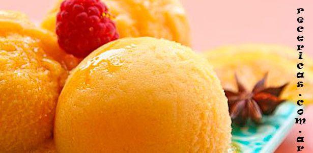 helado de durazno casero