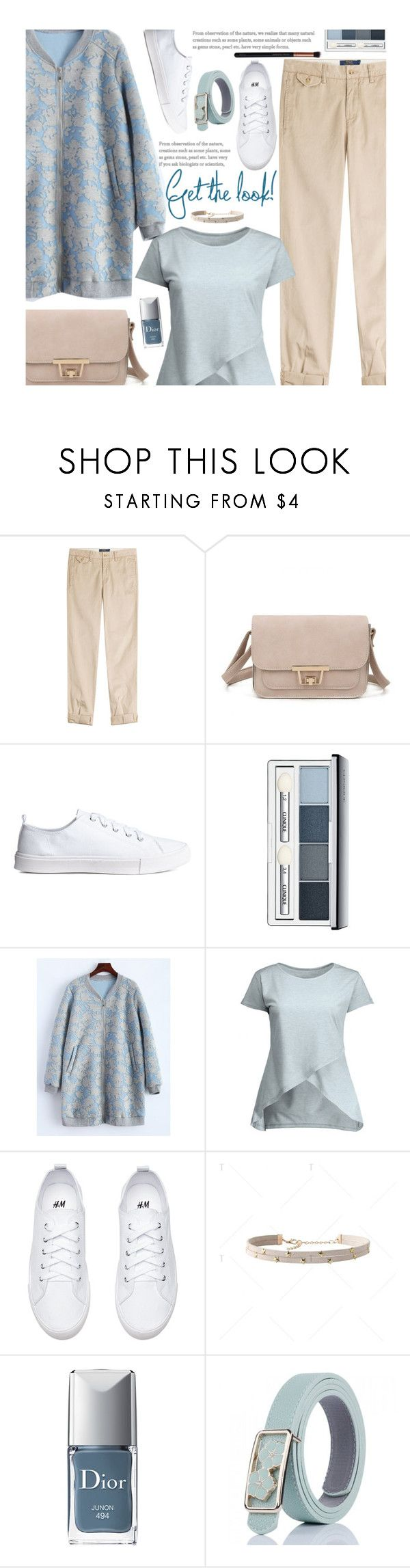 """Casual"" by beebeely-look ❤ liked on Polyvore featuring Polo Ralph Lauren, Clinique, Christian Dior, M.O.T.D Cosmetics, casual, sporty, pastels, twinkledeals and Spring2017"