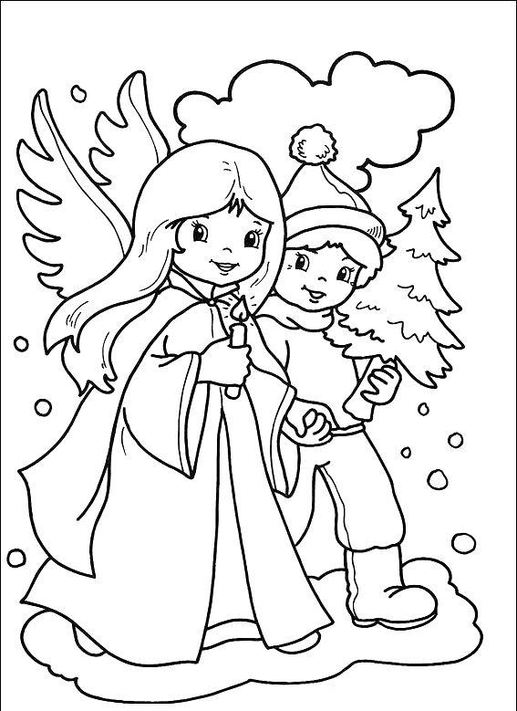 ausmalbilder weihnachten engel kostenlos  angel coloring