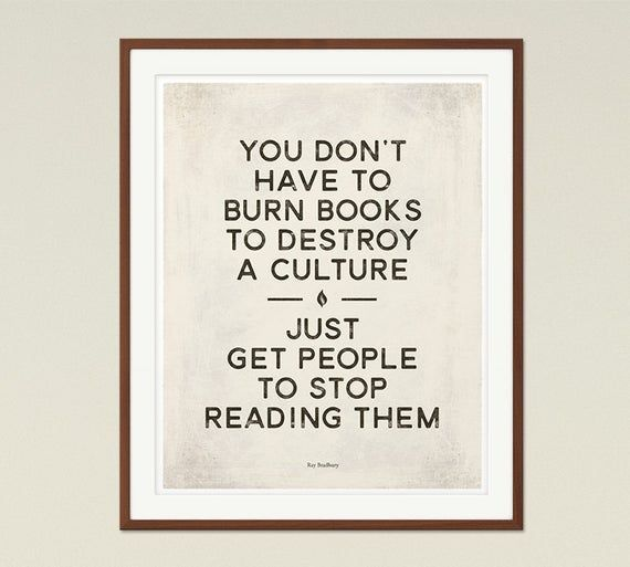 Ray Bradbury Medium Dystopian Sci Fi Literary Quote Poster Etsy In 2020 Literary Quotes Quote Posters Book Quotes