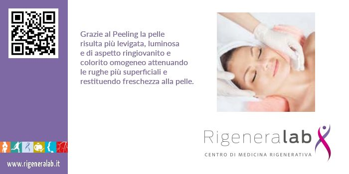 Grazie al Peeling - pelle più levigata attenuando le rughe superficiali. http://www.rigeneralab.it