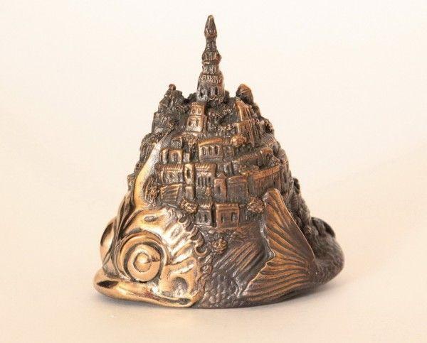 Fish Island Bronze Bell 9 cm