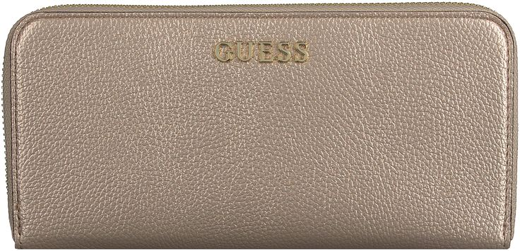 Witte Guess Portemonnee TULIP LARGE ZIP AROUND