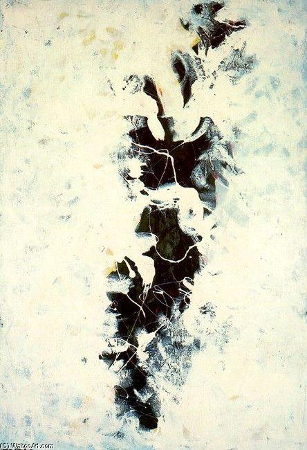 "Jackson Pollock- ""The Deep""  Looks like body print abstract art"