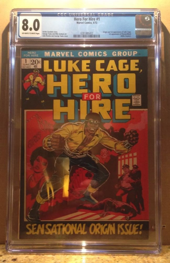 Luke cage HERO for HIRE #1, First Luke cage, 1st Hero For Hire, Big KEY Bronze!