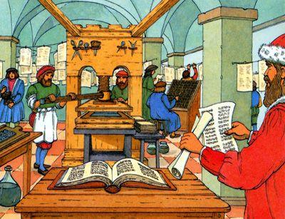 invention imprimerie