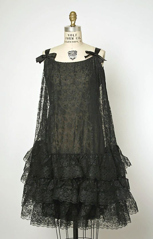 Dress, Evening  House of Balenciaga  (French, founded 1937)  Designer: Cristobal Balenciaga (Spanish, 1895–1972) Date: fall/winter 1965–66 Culture: French Medium: lace