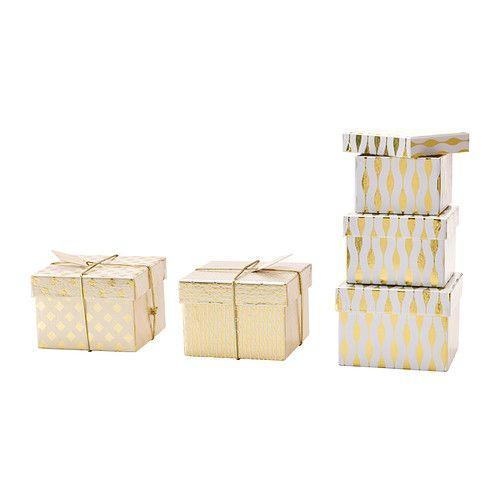 IKEA - VINTERMYS, Gift box, set of 3, assorted patterns $3.99