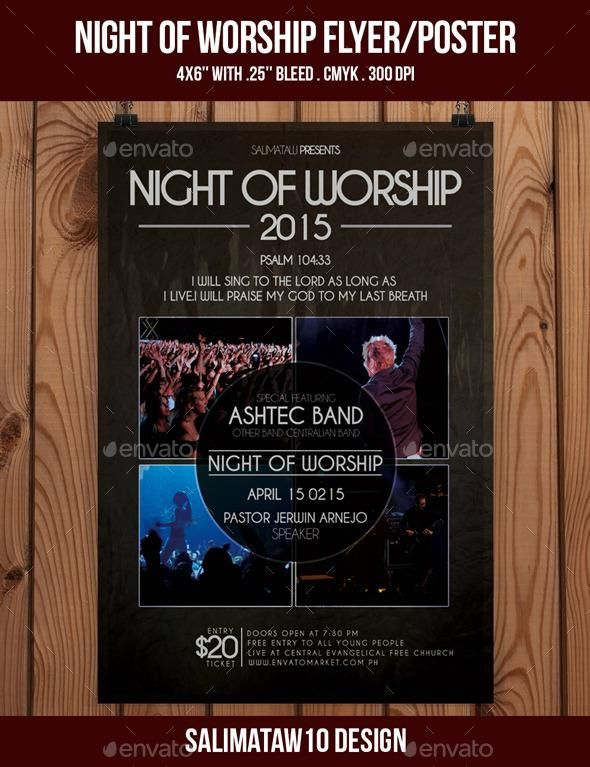 Night of Worship Flyer / Poster