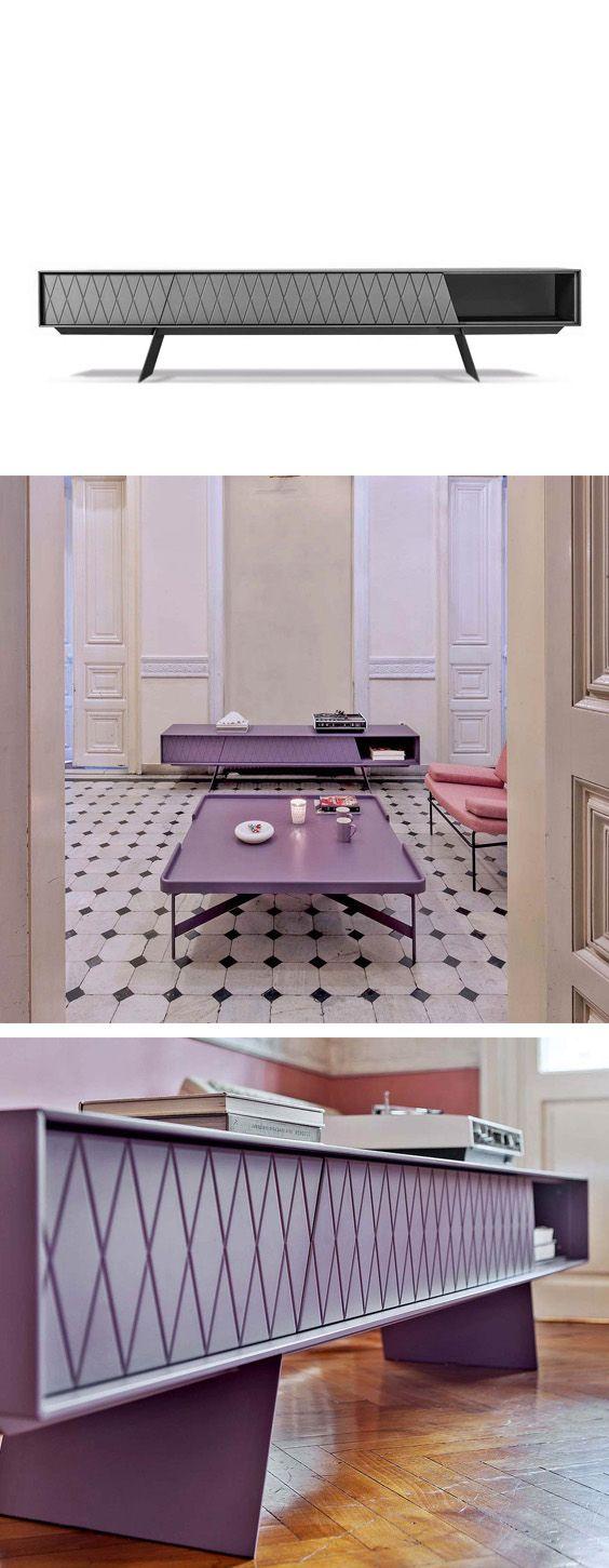 Das Lowboard e-klipse hat ein modernes Rautenmuster, ist in verschiedenen Farben erhältlich und wirkt mit dem offenen Fach besonders leicht.   #Lowboard #Wohnzimmer #livingroom #modern #zeitlos #minimalistisch #minimalism #Inspiration #Inneneinrichtung #wohnstil #wohntrend #home #einrichten #wohnen #interiordesign #interiordecorating #Möbel #Design #Designmöbel #Luxus #Livarea #al2