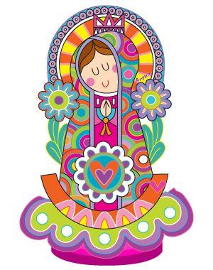 Personaje de la marca Virgencita Plis de Distroller.